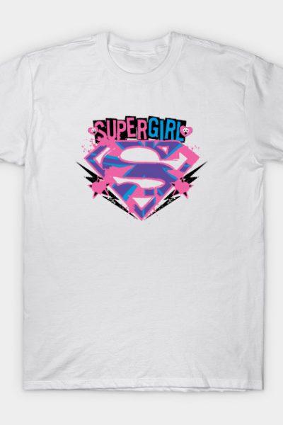Supergirl Pink and Purple Grunge T-Shirt