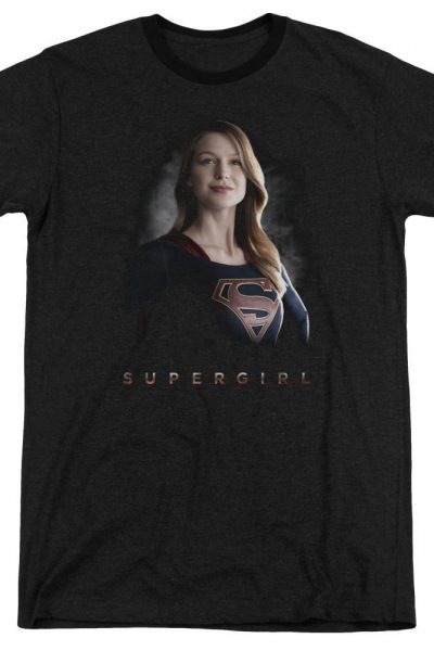 Supergirl – Stand Tall Adult Ringer T- Shirt