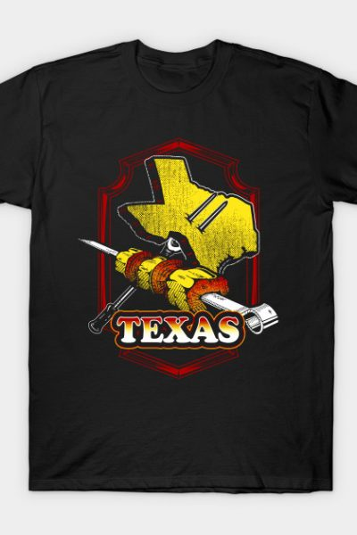 Texas Meat Barbeque Food Graphic Design T-Shirt
