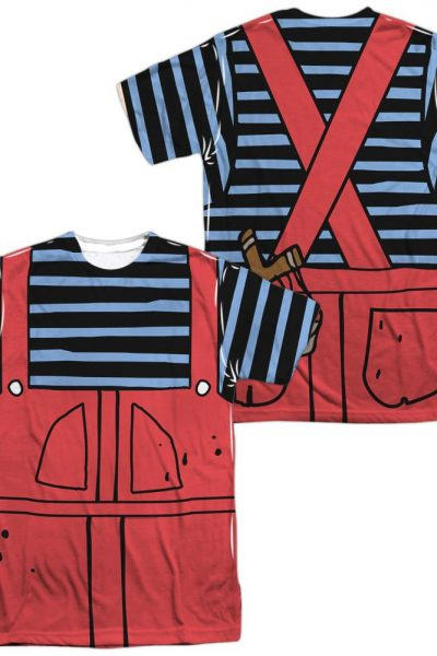 Dennis The Menace Dennis Costume Adult All Over Print 100% Poly T-Shirt