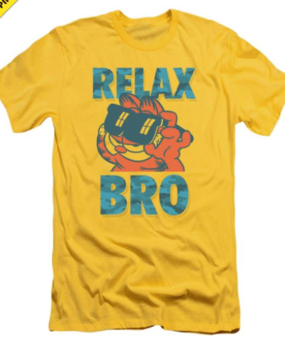 Garfield Relax Bro Premium Adult Slim Fit T-Shirt