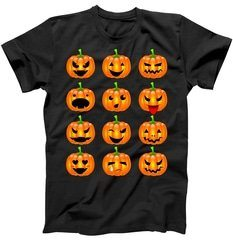 Halloween Pumpkin Emojis Smiley Face T-Shirt | TeeShirtPalace