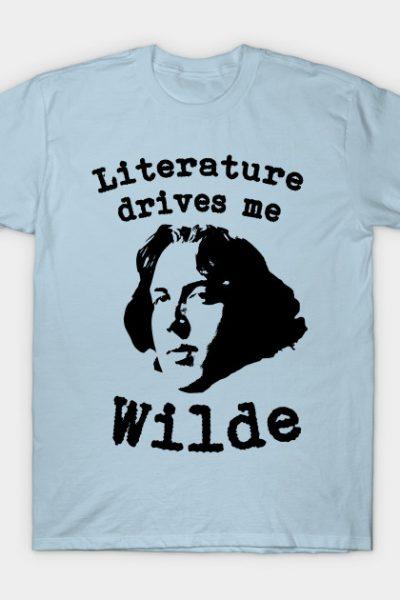 Literature Drives Me Wilde Parody T-shirt T-Shirt
