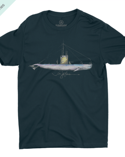 Nautical Whale Tee (Navy)