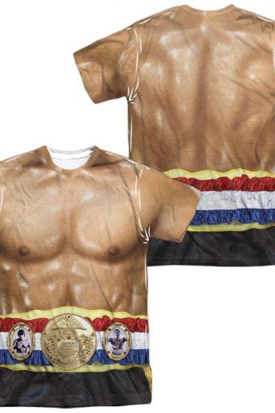 Rocky Costume Adult All Over Print 100% Poly T-Shirt