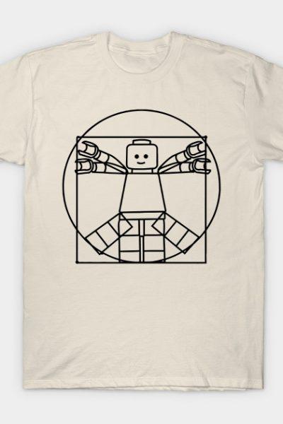 Vitruvian Lego Man T-Shirt