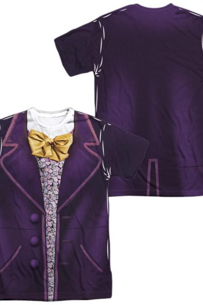 Willy Wonka And The Chocolate Factory Wonka Costume Adult All Over Print 100% Poly T-Shirt
