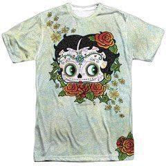 Betty Boop Sugar Skull  Sublimation T-Shirt | TeeShirtPalace