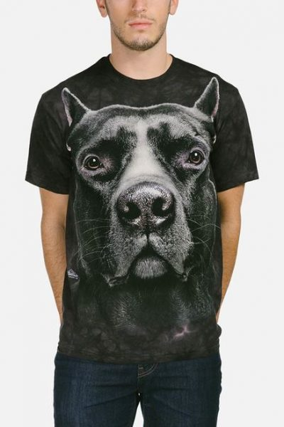 Black Pit Bull Head T-Shirt
