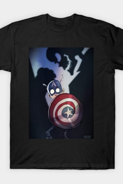 Captain America Tim Burton Style with background T-Shirt