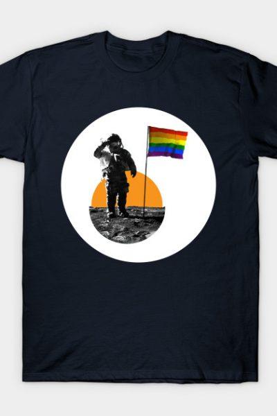Rainbow Flag on the Moon T-Shirt