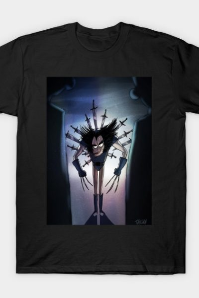 Wolverine Tim Burton Style with background T-Shirt