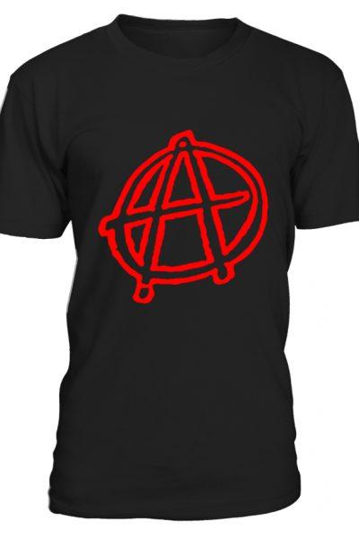 Anarchy Symbol Grafitti T-Shirt Red
