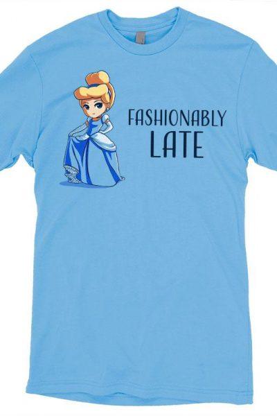 Cinderella Fashionably Late T-Shirt | Official Disney Tee – TeeTurtle