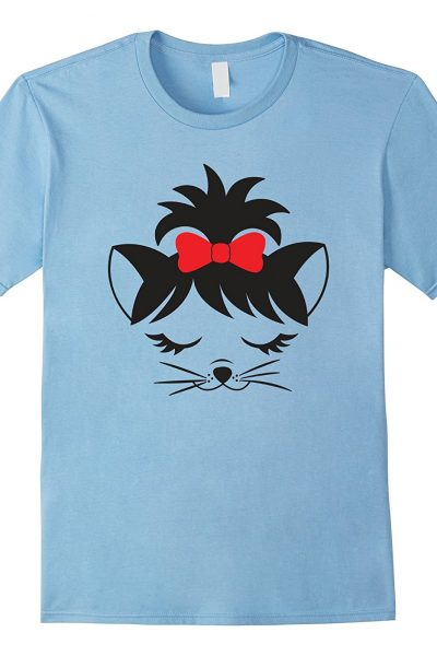 Cute Cat Face With Bow Tshirt