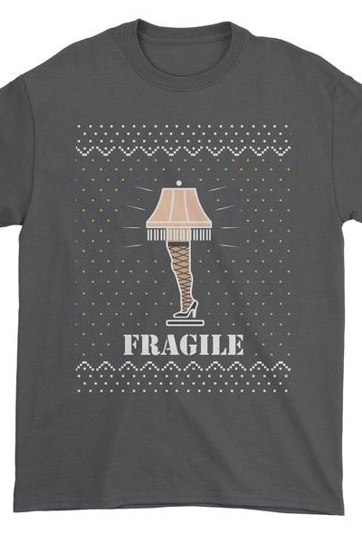 Fragile Leg Lamp Christmas Story Mens T-shirt