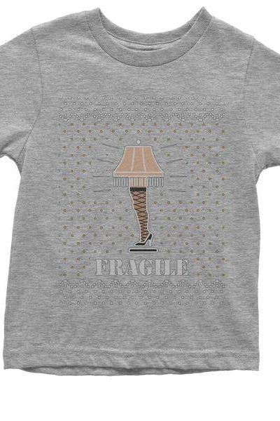 Fragile Leg Lamp Christmas Story Youth T-shirt