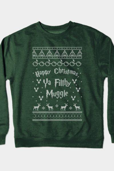 Harry Potter Ugly Christmas Sweater Crewneck Sweatshirt