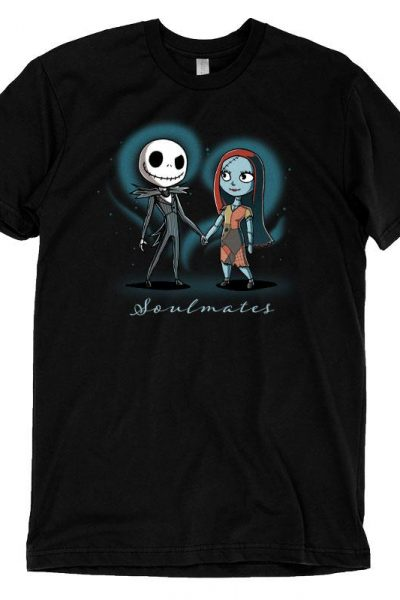 Jack Skellington and Sally Soulmates T-Shirt | Official The Nightmare Before Christmas Tee – TeeTurtle