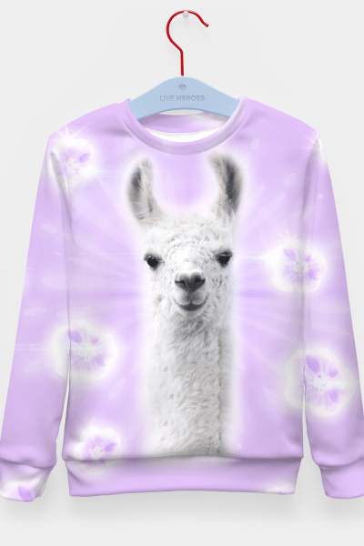 Superstar Llama Kid's Sweater, Live Heroes