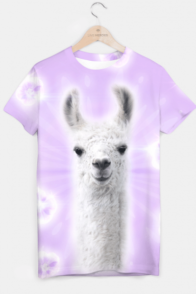 Superstar Llama T-shirt, Live Heroes