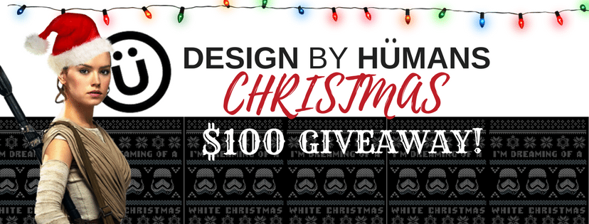 The Design By Humans $100 Christmas Giveaway