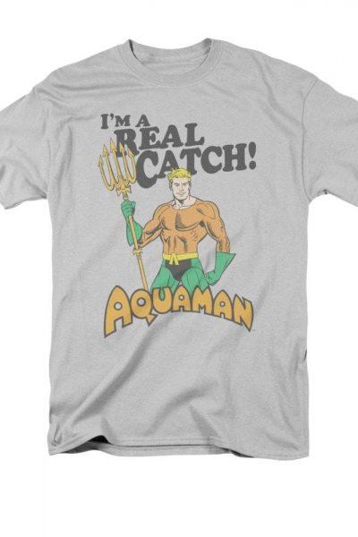 Aquaman – Real Catch Adult Regular Fit T-Shirt