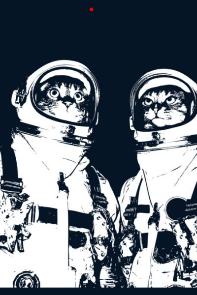 Catstronauts All Over Mens T Shirt By MasterControl Design By Humans