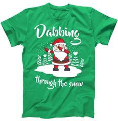 Funny Dabbing Around The Christmas Tree Santa T-Shirt | TeeShirtPalace
