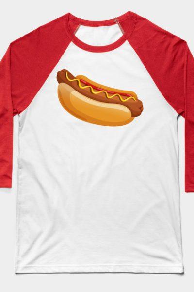 HOT DOG 2 Baseball T-Shirt