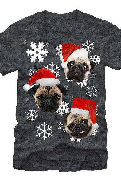 Pug Christmas Adult Regular Fit T-Shirt