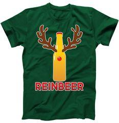 Reinbeer Funny Christmas Beer Reindeer T-Shirt | TeeShirtPalace