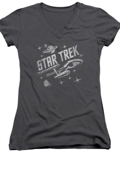 Star Trek – Through Space Junior V-Neck T-Shirt
