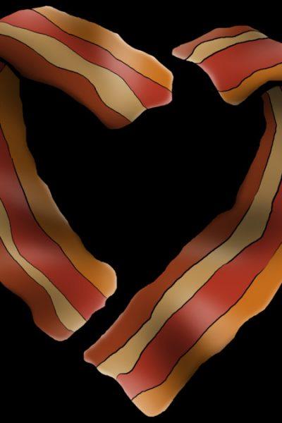 Bacon Heart T Shirt