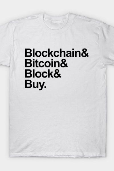 Bitcoin Helvetica List T-Shirt