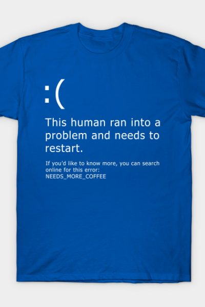 Blue Screen of Death – Coffee error