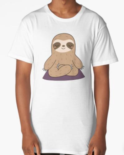 Kawaii Cute Yoga Meditating Sloth