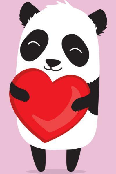 Panda Love T Shirt