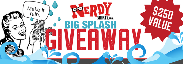 Announcing the Winners of the Nerdy Shirts Big Splash Giveaway