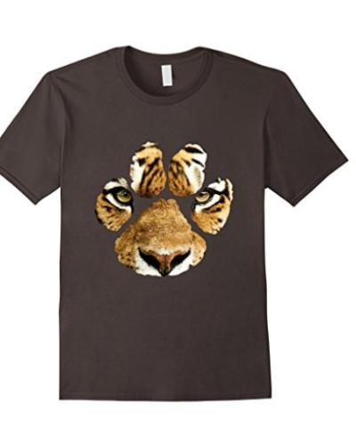 Awesome Tiger Paw Print T-Shirt – Mens & Womens & Kids