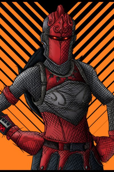 Fortnite Red Knight Skin Drawing T Shirt By Simonpdv Design By Humans