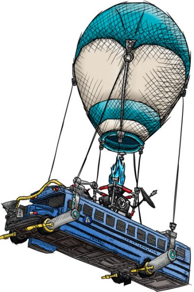 Fortnite's Bus Drawing (Colored) T Shirt By Simonpdv Design By Humans
