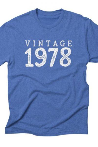 40th Birthday Gift Vintage 1978 Year T-Shirt | Red Yolk's Shop