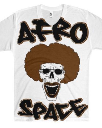 Afro Space All Over Men's V-Neck T-Shirt