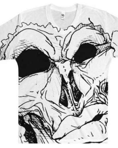 Afro Space Mean Mug Black Men's V-Neck T-Shirt