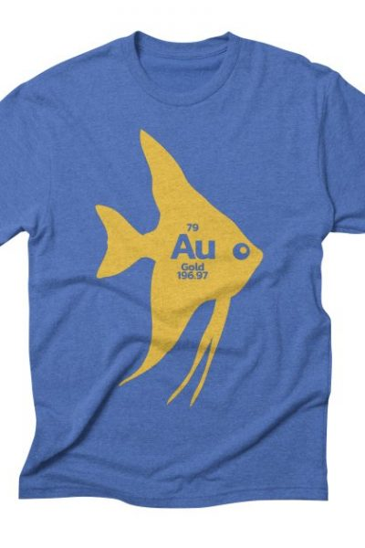 Au Gold Goldfish Periodic Element Funny Graphic T-Shirt | Red Yolk's Shop