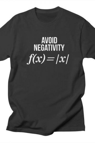 Avoid Negativity Math Equation Shirt Funny Math Teacher Gift | Red Yolk's Shop