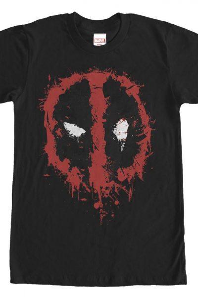 Marvel – Deadpool Splatter Icon Adult Regular Fit T-Shirt