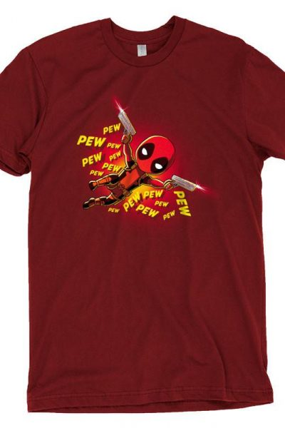 Pew Pew Deadpool T-Shirt | Official Marvel Tee – TeeTurtle