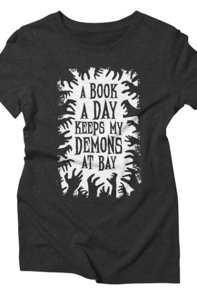 A Book A Day Keeps My Demons At Bay | Grandio Design Artist Shop